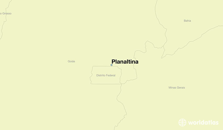 map showing the location of Planaltina