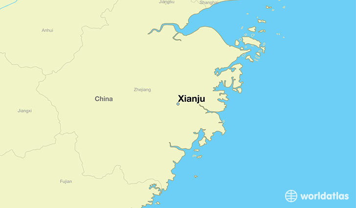 map showing the location of Xianju