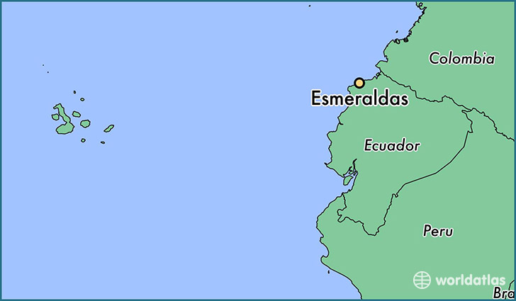 Location Of Ecuador On World Map.Where Is Esmeraldas Ecuador Esmeraldas Esmeraldas Map