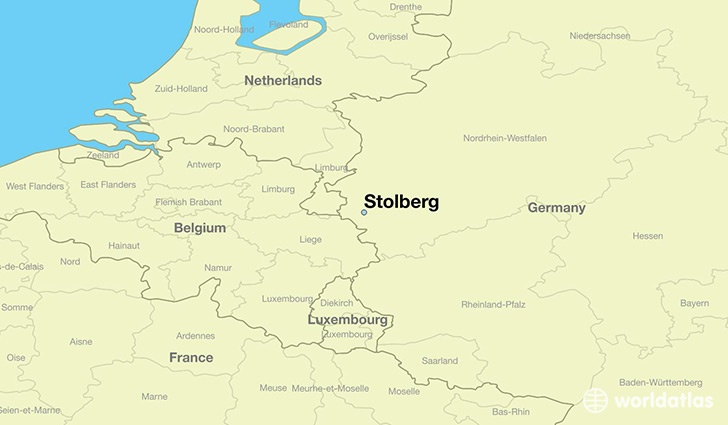 map showing the location of Stolberg