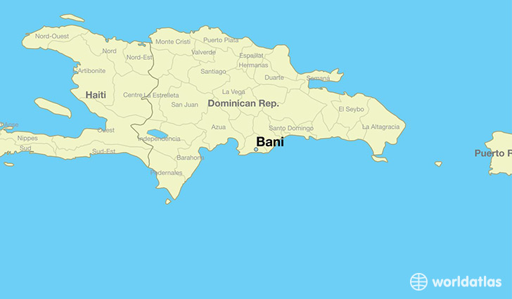 map showing the location of Bani