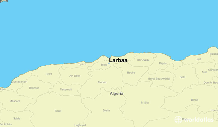 map showing the location of Larbaa