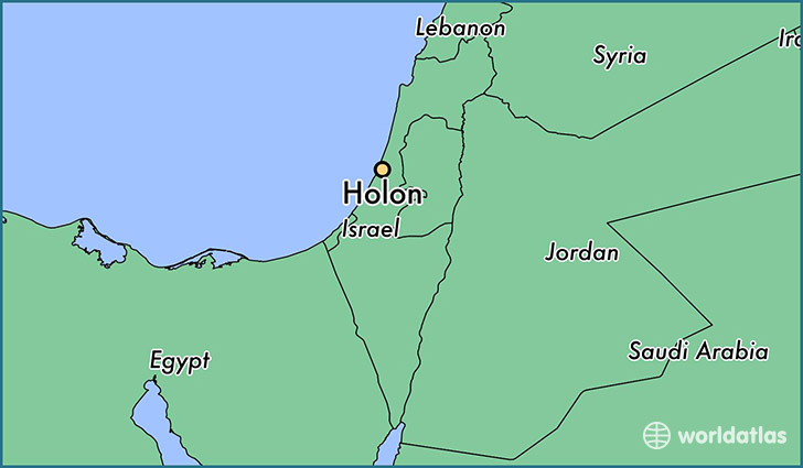 map showing the location of Holon