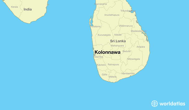 map showing the location of Kolonnawa