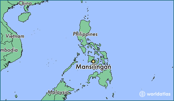 map showing the location of Mansilingan