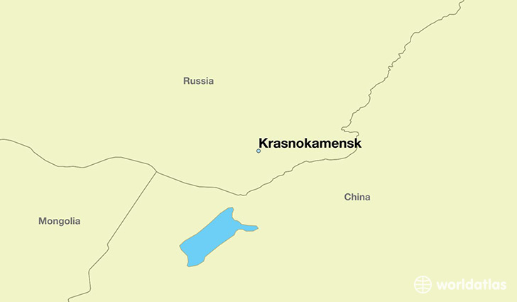 map showing the location of Krasnokamensk