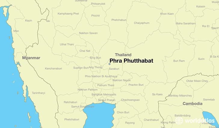 map showing the location of Phra Phutthabat