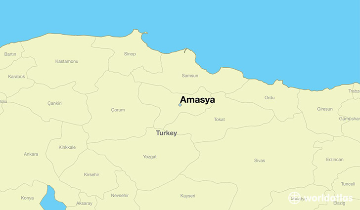 map showing the location of Amasya