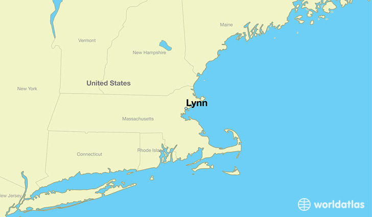 map showing the location of Lynn