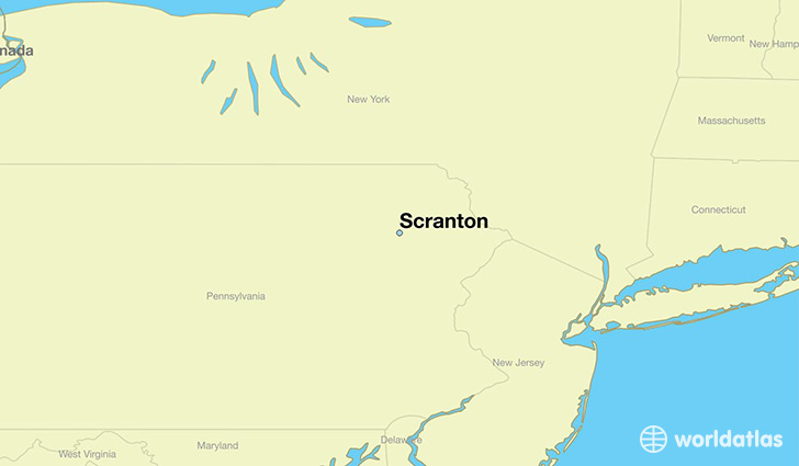 Where is Scranton PA Scranton Pennsylvania Map WorldAtlascom