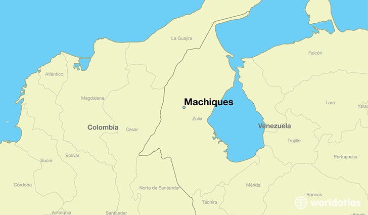 map showing the location of Machiques