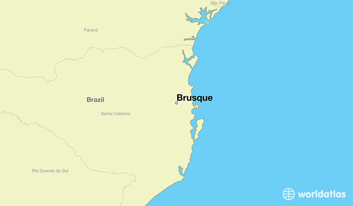 map showing the location of Brusque