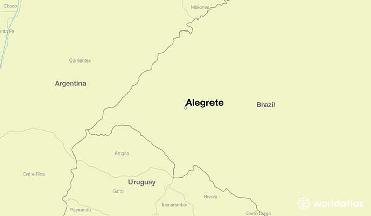 map showing the location of Alegrete