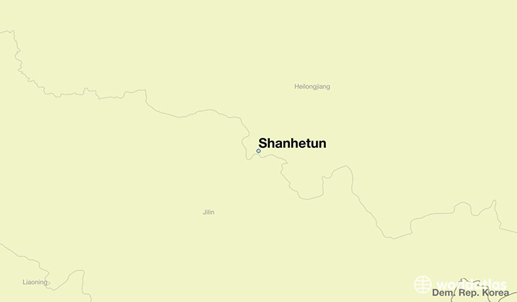 map showing the location of Shanhetun