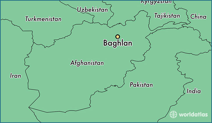 map showing the location of Baghlan