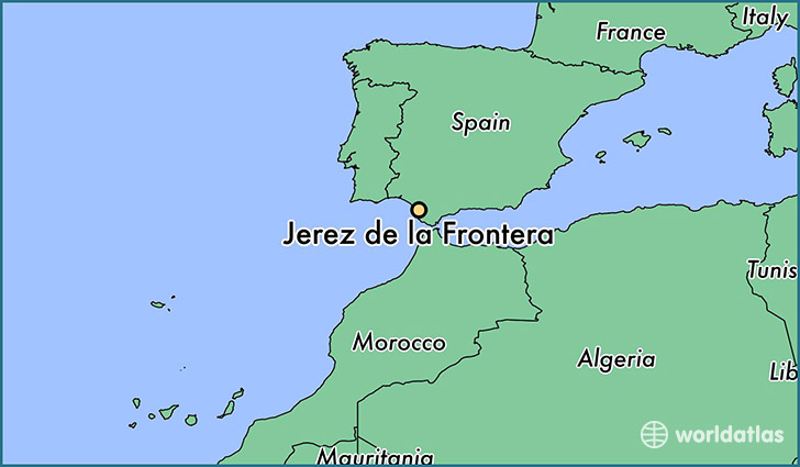 map showing the location of Jerez de la Frontera