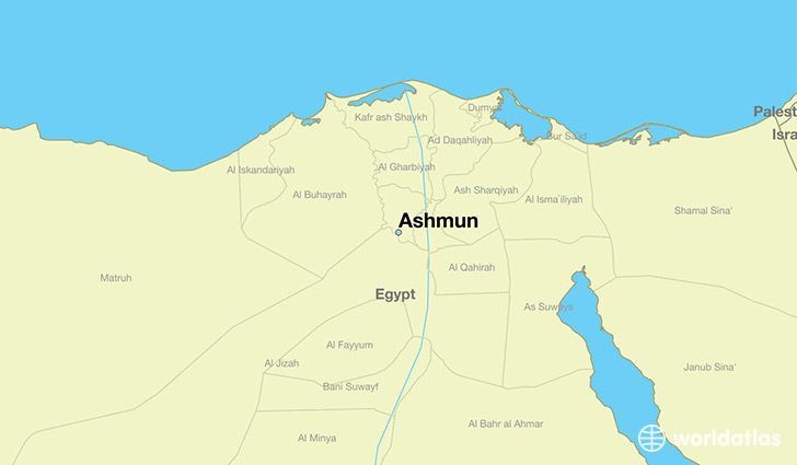 map showing the location of Ashmun