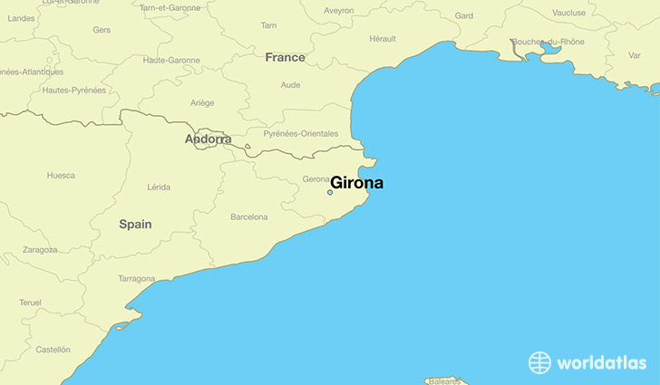 Where is Girona Spain Girona Catalonia Map WorldAtlascom