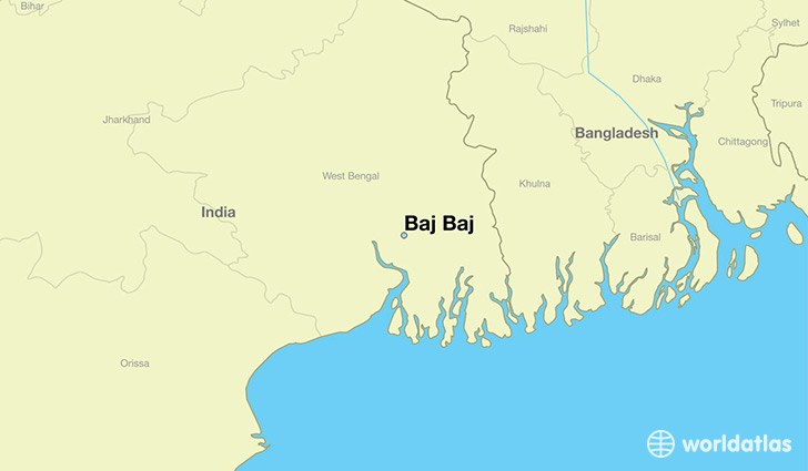 map showing the location of Baj Baj
