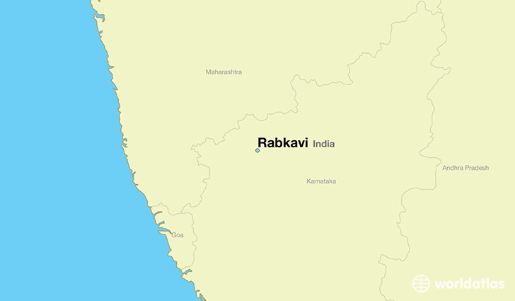 map showing the location of Rabkavi