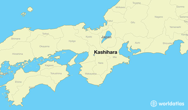 map showing the location of Kashihara