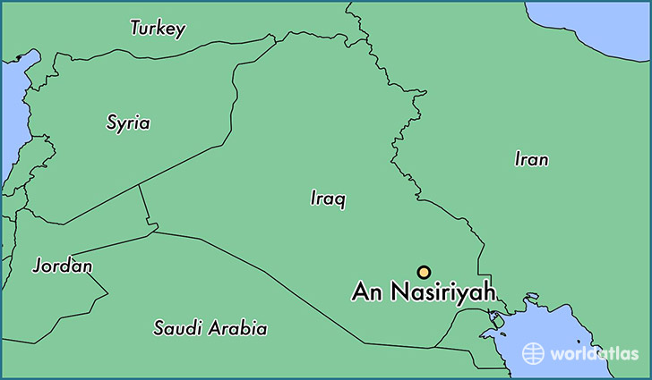 map showing the location of An Nasiriyah