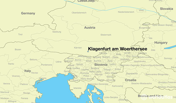 Where is Klagenfurt am Woerthersee Austria Klagenfurt am