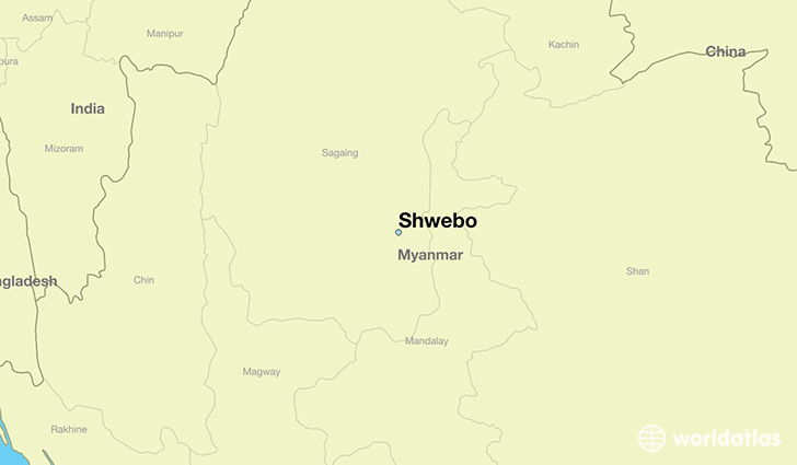 map showing the location of Shwebo