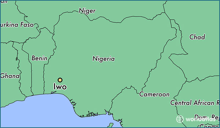 map showing the location of Iwo