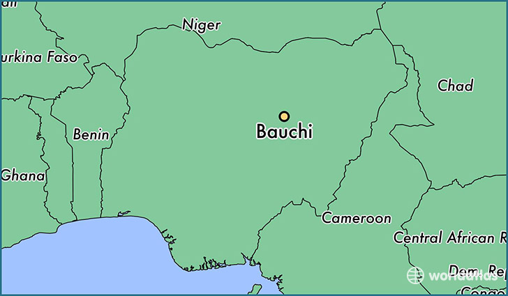 map showing the location of Bauchi