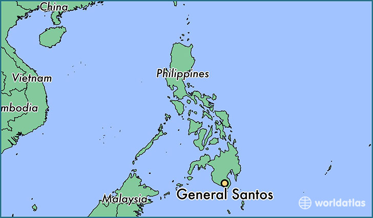 map showing the location of General Santos