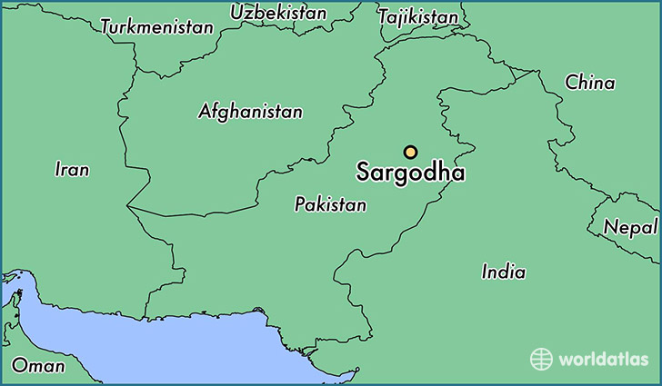 map showing the location of Sargodha