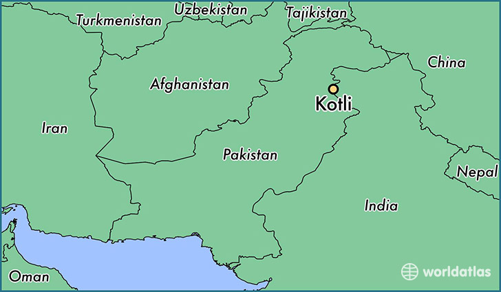 map showing the location of Kotli