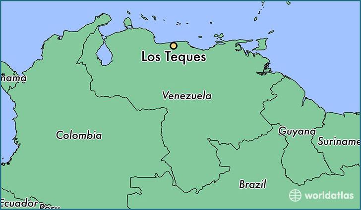 map showing the location of Los Teques