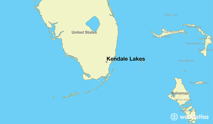 map showing the location of Kendale Lakes