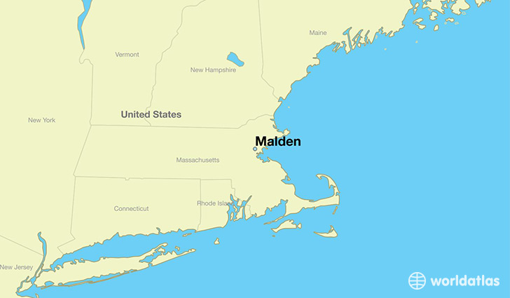 map showing the location of Malden