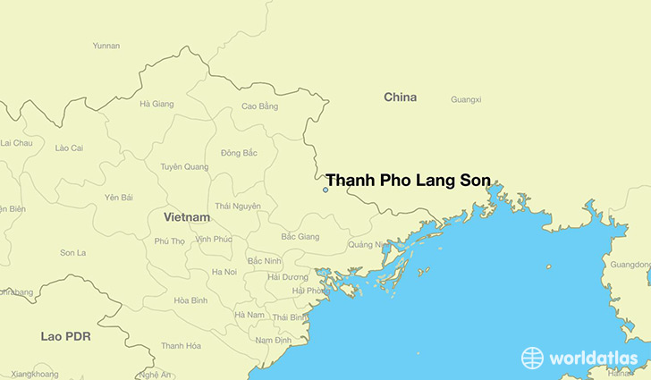 map showing the location of Thanh Pho Lang Son