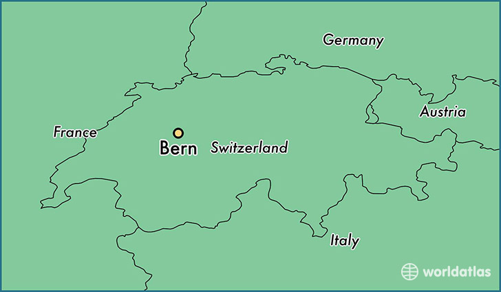 Where is bern switzerland bern bern map worldatlas map showing the location of bern gumiabroncs Image collections