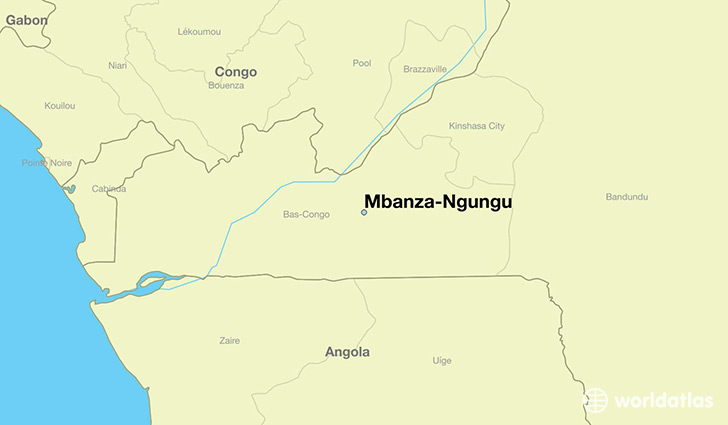 map showing the location of Mbanza-Ngungu