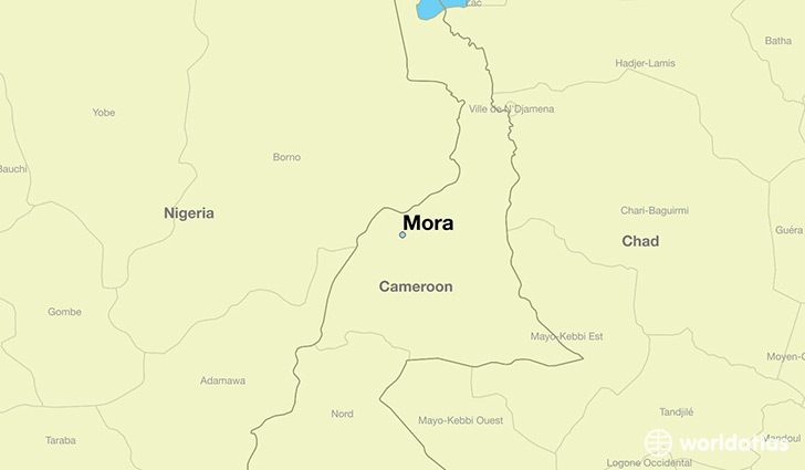 map showing the location of Mora