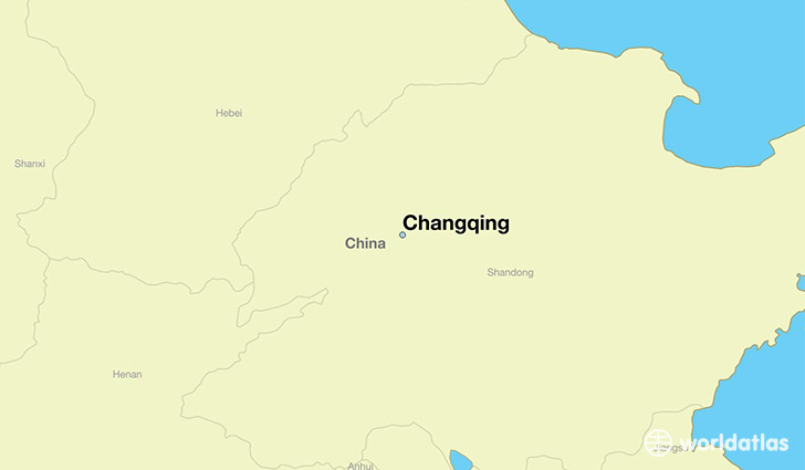 map showing the location of Changqing