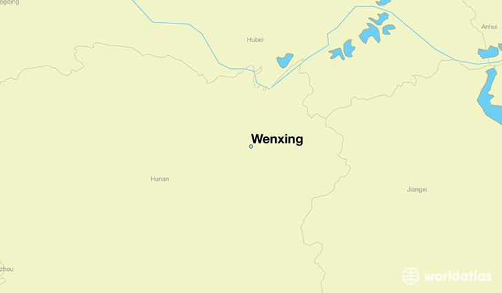 map showing the location of Wenxing