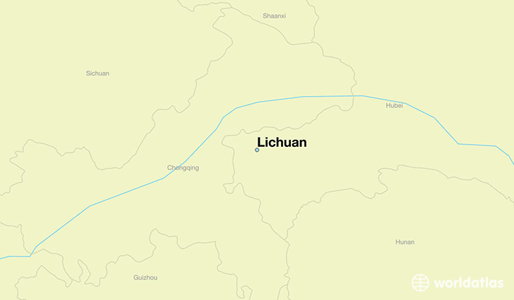 map showing the location of Lichuan