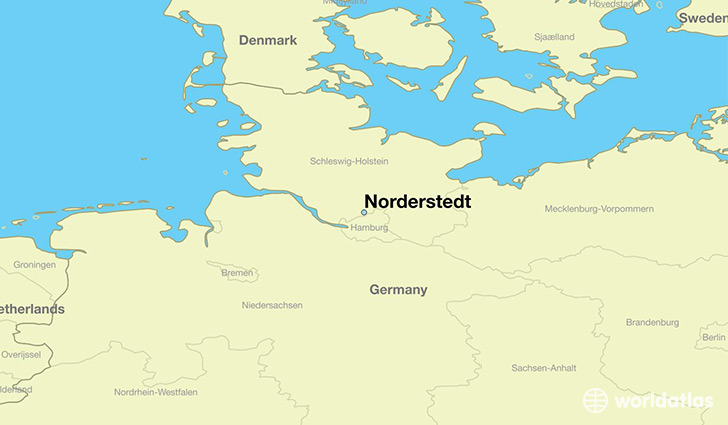 map showing the location of Norderstedt