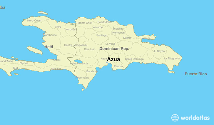 map showing the location of Azua