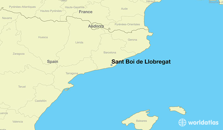 map showing the location of Sant Boi de Llobregat