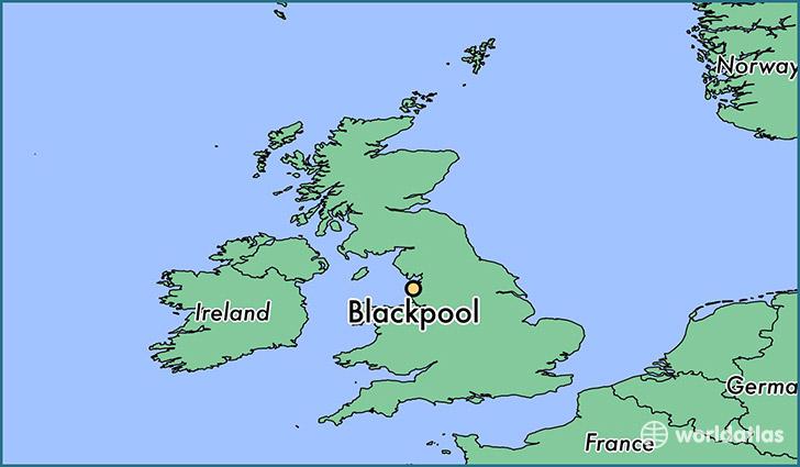 Where is Blackpool England Blackpool England Map WorldAtlascom