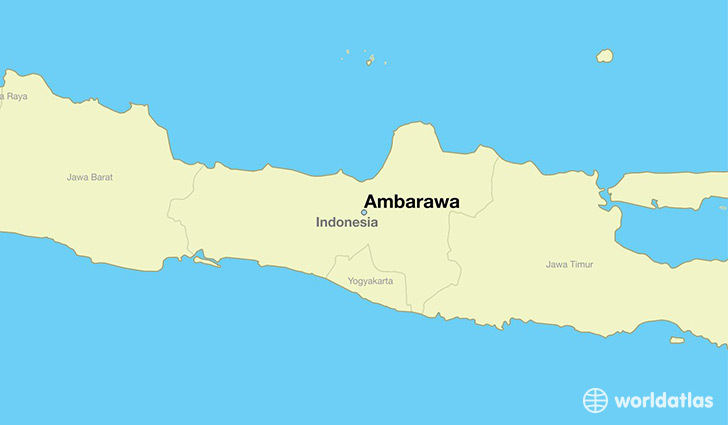 map showing the location of Ambarawa
