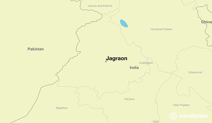 map showing the location of Jagraon