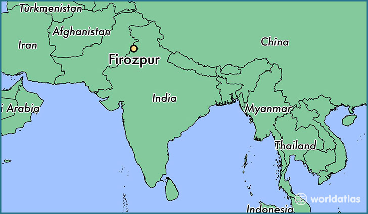 map showing the location of Firozpur